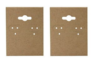N ice Packaging 200 pcs 1 5 X 2 Kraft Hanging Earring Cards Jewelry Display