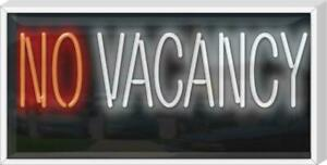 No Vacancy Neon Sign Outdoor Jantec 32 X 16 Motel Hotel Bed Breakfast