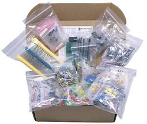 Xl Electronic Component Kit Assortment Capacitors Resistors Led Transistors
