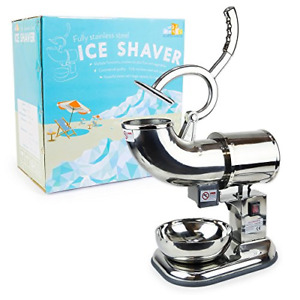 Wyzworks Stainless Steel Commercial Heavy Duty Ice Shaver With 2 Extra Blades