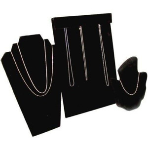 Findingking 3 Black Diamond Necklace Display Bust Easel Stand New