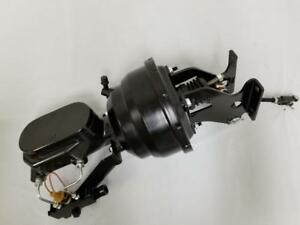 Chevy C10 Suburban Truck 8 Black Brake Booster Smooth Master Cylinder Disc Disc