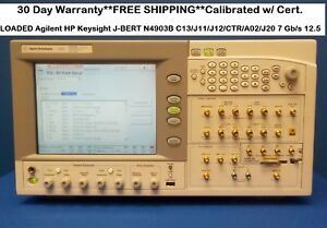 Loaded Agilent Hp Keysight J bert N4903b C13 j11 j12 ctr a02 j20 7 Gb s 12 5