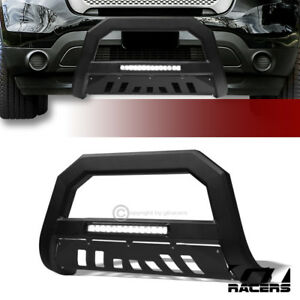 For 2011 2018 Ford Explorer Matte Black Avt Aluminum Led Bull Bar Bumper Guard