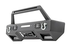 Rough Country Stubby Black Series Led Winch Bumper 18 Jeep Jl Wrangler 11826_a