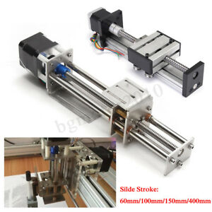 Ball Screw Linear Cnc Z Axis Slide Stroke Long Stage Actuator Stepper Motor Hot