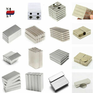1 100pcs N50 Strong Small Block Magnets Hole Rare Earth Neodymium Fridge Magnet