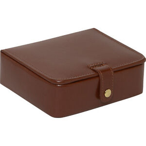 Budd Leather Leather Stud ring Box Brown Business Accessorie New