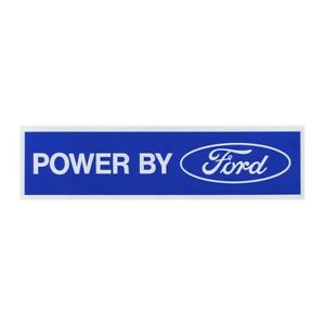 Valve Cover Decal Powered By Ford White On Blue