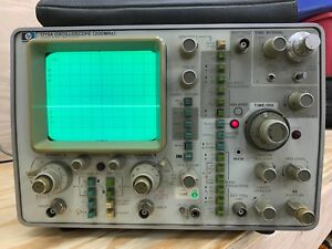 Hp 1725a Oscilloscope 200mhz Bendix Test Systems Op Guide Cables