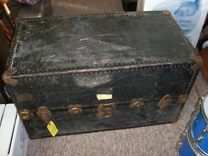 Antique Wardrobe Steamer Traveling Trunk Chest