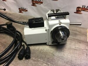Nice Haas 4th Axis Rotary 5c Collet Indexer Direct Plug To Machine