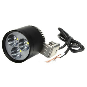 Motorcycle 3led Driving Spot Light Daytime Running Lamp Headlight 1200lm 12v 15w