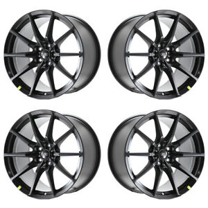 4 Ford Mustang Gt350 19x10 5 19x11 Black Wheels Rims Genuine Factory Oem Shelby