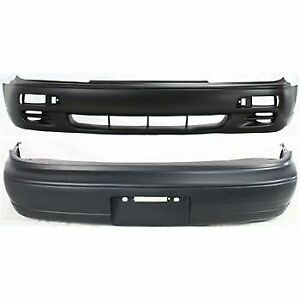 Front Rear Bumper Cover Set For 1995 1996 Toyota Camry Primed Plastic 2 Pcs