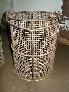 3 Stainless Steel Mesh Heat Treating Baskets 14 Dia X 18 h Chemical Process