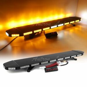52 Led Amber Emergency Flashing Warning Traffic Advisor Alley Strobe Light Bar