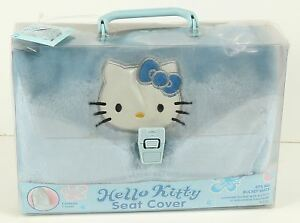 New Nos Rare Hello Kitty Blue Plush Seat Cover Fits All Bucket Seats 2002