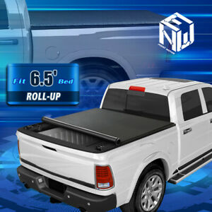 For 09 21 Dodge Ram 1500 2500 3500 6 5ft Bed Soft Roll Up Lock Tonneau Cover