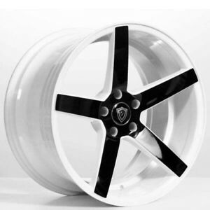 For Bmw 20 Staggered Marquee G line Wheels G5178 White W Black Popular Rims