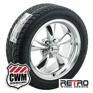 17 Inch 17x7 17x8 Polished Wheels Rims R T5 Tires For Chevy Cars 1982 1992