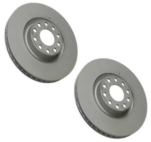 Pair Set Of 2 Front Zimmermann Brake Disc Rotors 321mm For A6 Q S6 Lucas girling