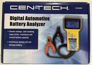 Cen Tech Digital Display Automotive Battery Analyzer 66892
