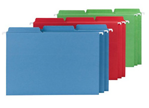 Smead Fastab Hanging File Folder 1 3 cut Built in Tab Legal Size Assorted 18