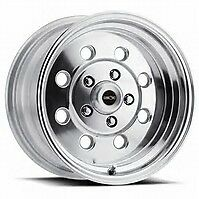 15x7 Vision Sport Lite Pro Drag Polished Racing Wheel 4x4 25 No Weld Mustang