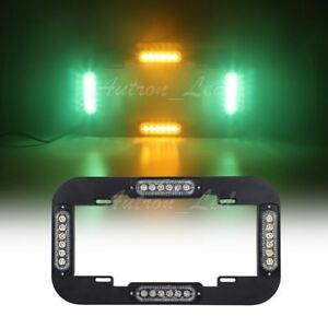 13 5 24w Amber Green Led Traffic Adviser Strobe Flash License Plate Light
