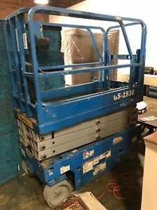 2012 Genie Gs 1930 19 Electric Scissor Lift Manlift Aerial Platform