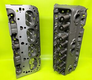 302 327 350 Chevy Cylinder Heads 461 Sbc Bronze Guides 500 Springs Double Hump
