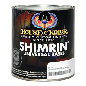 House Of Kolor Bc02 Orion Silver Metallic Basecoat Gallon
