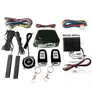 Universal Car Keyless Entry Engine Start Alarm System Push Remote Starter O3d3