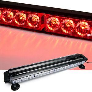 54 Led Emergency Warning Strobe Light Bar 26 5 Traffic Advisor 7 Patterns Red