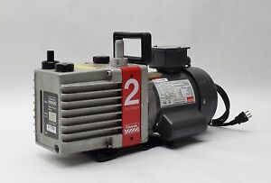 Edwards High Vacuum Dual Stage E2m2 Rotary Vane Pump Dayton 1 3hp Motor 1725rpm