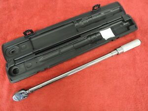 Snap On Qd3r250a 1 2 Drive Click Type Torque Wrench In A Case