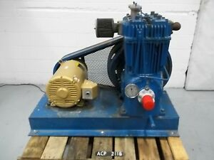 Quincy Qr25 390 2 Stage Air Compressor 15 Hp 2 Cylinder acp2116