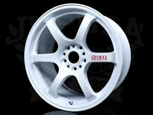 Rays Gram Lights 57dr Wheels Ceramic Pearl White 18x9 5 5x114 38 Offset