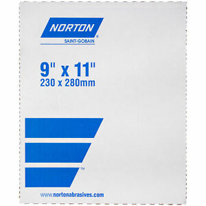 Norton 66261101255 Cloth Sheets 9x11 622k Emery Sheetsextra Coars set Of 25