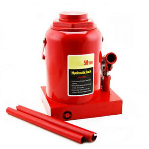 New 50 Ton Hydraulic Bottle Jack 100000lb Lift Heavy Duty Automotive Car Compact