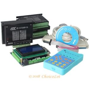 Diy Cnc Kit 3 Axis 3g Breakout Board With Display Keypad Tb6600hg Drivers 5a