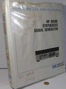 Hp 8656b Synthesized Signal Generator Oper Service Manual 100khz 990mhz Vol 1