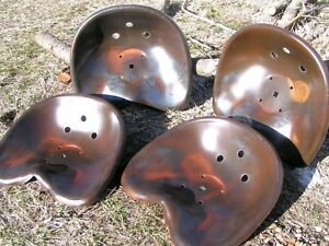 Four Deep Steel Tractor Metal Farm Machinery Stool Seat S New Old Style