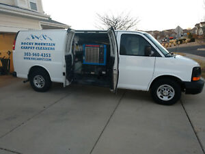 Used Carpet Cleaning Van Chevy Express 3500 Extendedprochem Apex Truck Mount