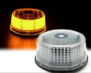 Amber 240 Led Roating Round Emergency Strobe Light Roof Top Beacon Mini Bar