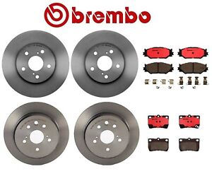 For Lexus Is250 2 5l 06 09 Front And Rear Disc Brake Rotors And Pads Brembo Kit