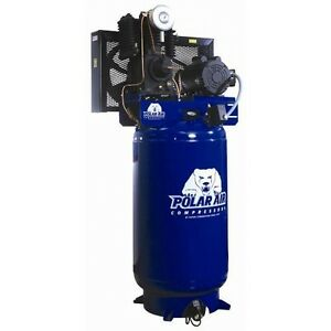 5 Hp 2 Stage 3 Phase 60 Gallon Vert Air Compressor
