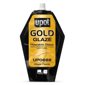 U Pol 688 Gold Glaze Pourable Auto Body Finishing Putty 440 Ml