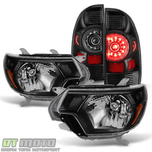 For Blk 2012 2015 Toyota Tacoma Headlights Headlamps Led Tail Lights Brake Lamps